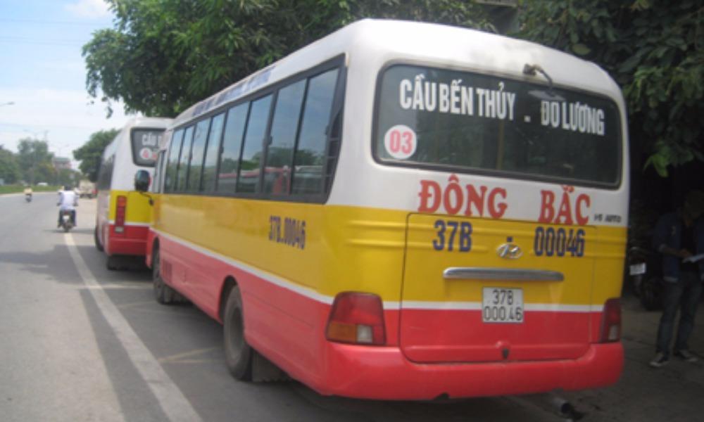 xe buyt Đông Bắc ở Nghệ An tuyển dụng lái xe, thu vé, giám sát