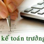 Tuyển trưởng phòng tài chính kế toán