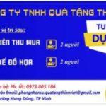 Công Ty Tnhh Quà Tặng Thiên Việt Tuyển Nhân Viên Thiết Kế